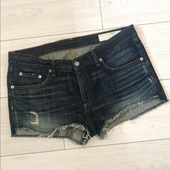 Rag & Bone the cut off jean shorts